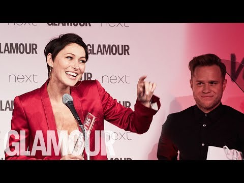 Emma Willis Gave Zero Fucks About Being Pissed on Stage | Women of the Year Awards 2017 | Glamour UK