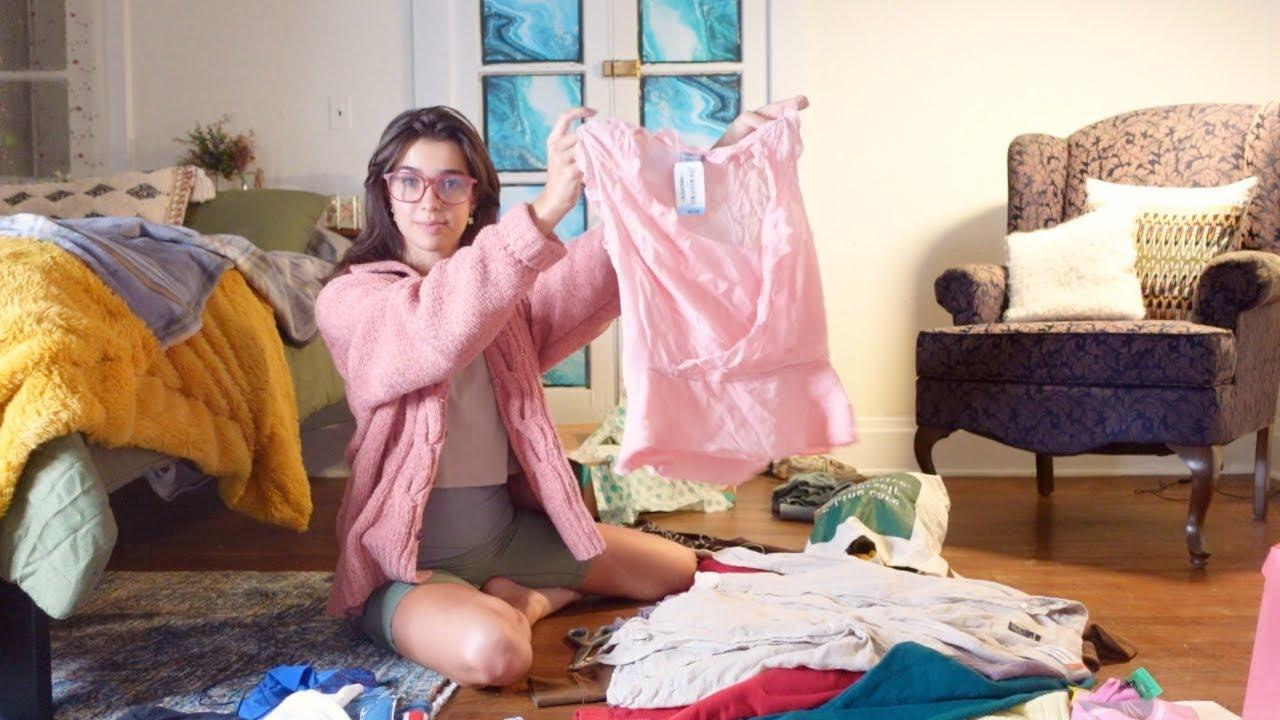 thrifting a new school wardrobe