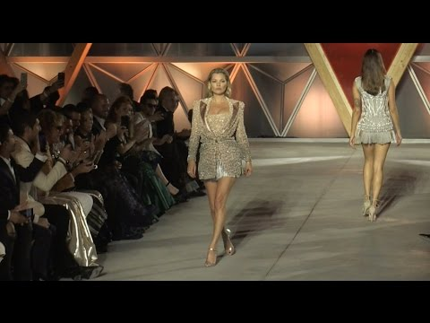 Kate Moss on the runway of Fashion for Relief Fashion Show in Cannes