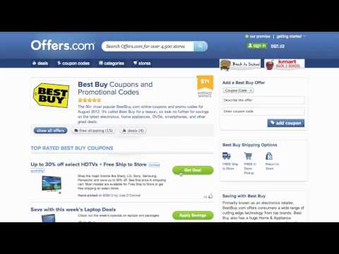 Best Buy Coupon Code 2013 - How To Use Promo Codes And Coupons For BestBuy.com