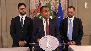 Luigi Di Maio consultazioni con il presidente della Repubblica Sergio Mattarella