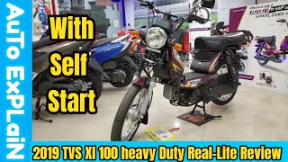 2019 Tvs Xl heavy duty self start Real-life Review,