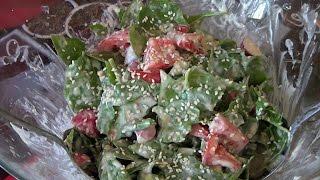 Легкий Весенний Салат со Шпинатом. Салат без майонеза