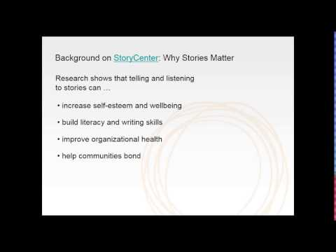 Introduction to Digital Storytelling:  A Community Based Participatory Media Approac