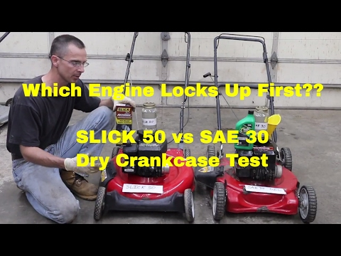 Can't believe what SLICK 50 did to my engine!!--Dry Crankcase Test!
