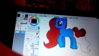 Рисую пони на манекене.