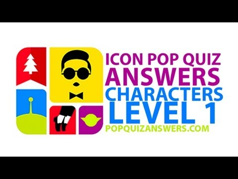 Icon Pop Quiz Answers (Characters) Level 1 for iPhone, iPad, Android