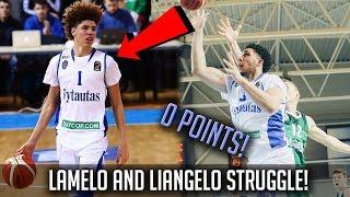 LaMelo and LiAngelo Ball Go SCORELESS! - Melo's THROWS IT DOWN!