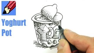 How to draw a Yoghurt pot