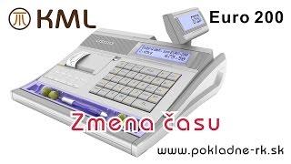 Zmena času - pokladnica Euro 200