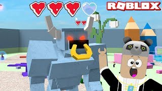 Press The Button and Stop the Monsters!! - Roblox Book of Monsters with Panda