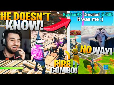 I SECRETLY Joined A Fashion Show and DONATED To The Streamer! (HE CRIED!) - Fortnite Battle Royale