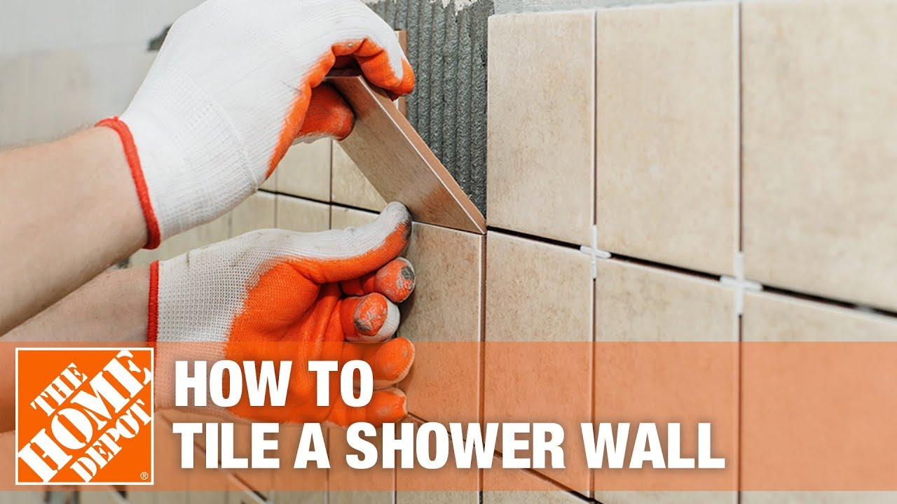 How To Tile A Shower Wall The Home Depot Youtube