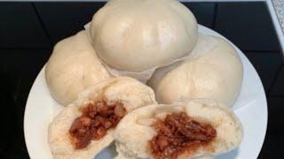 Bánh bao xá xíu_cách làm vỏ bánh bao mịn,xốp,mềm_Bếp Hoa