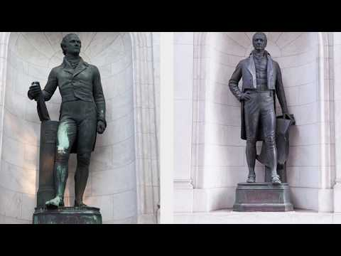 Alexander Hamilton & DeWitt Clinton Statue Conservation Part 2