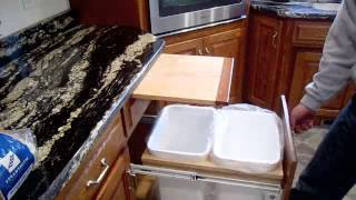 Pull Out Garbage Can & Cutting Board