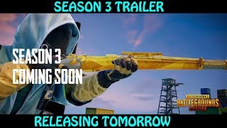 ROYAL PASS SEASON 3 UPDATE TRAILER, RELEASE TOMORROW, PUBG MOBILE