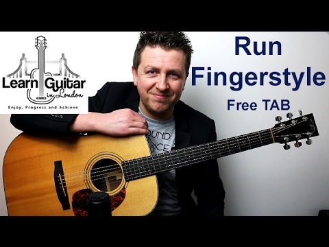 Run - Fingerstyle Guitar Tutorial - Snow Patrol - FREE TAB - Part 1