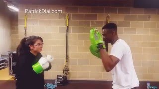 Simple boxing combination basic punches boxfit session training Ultra Patrick