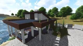 видео Современные бани из бруса