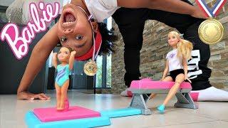 Barbie Toy Episodes For Kids - Barbie Gymnastics Surprise Kids Toys Review   Toys AndMe