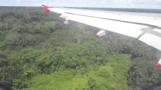 Landing at Leticia Airport (Amazon) - Avianca Airbus A319