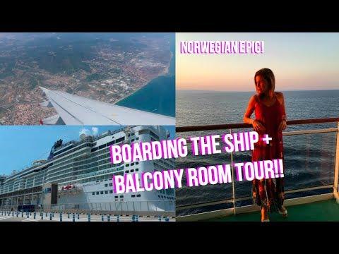 NORWEGIAN EPIC CRUISE VLOG 2018!! | Day 1 Mediterranean Cruise