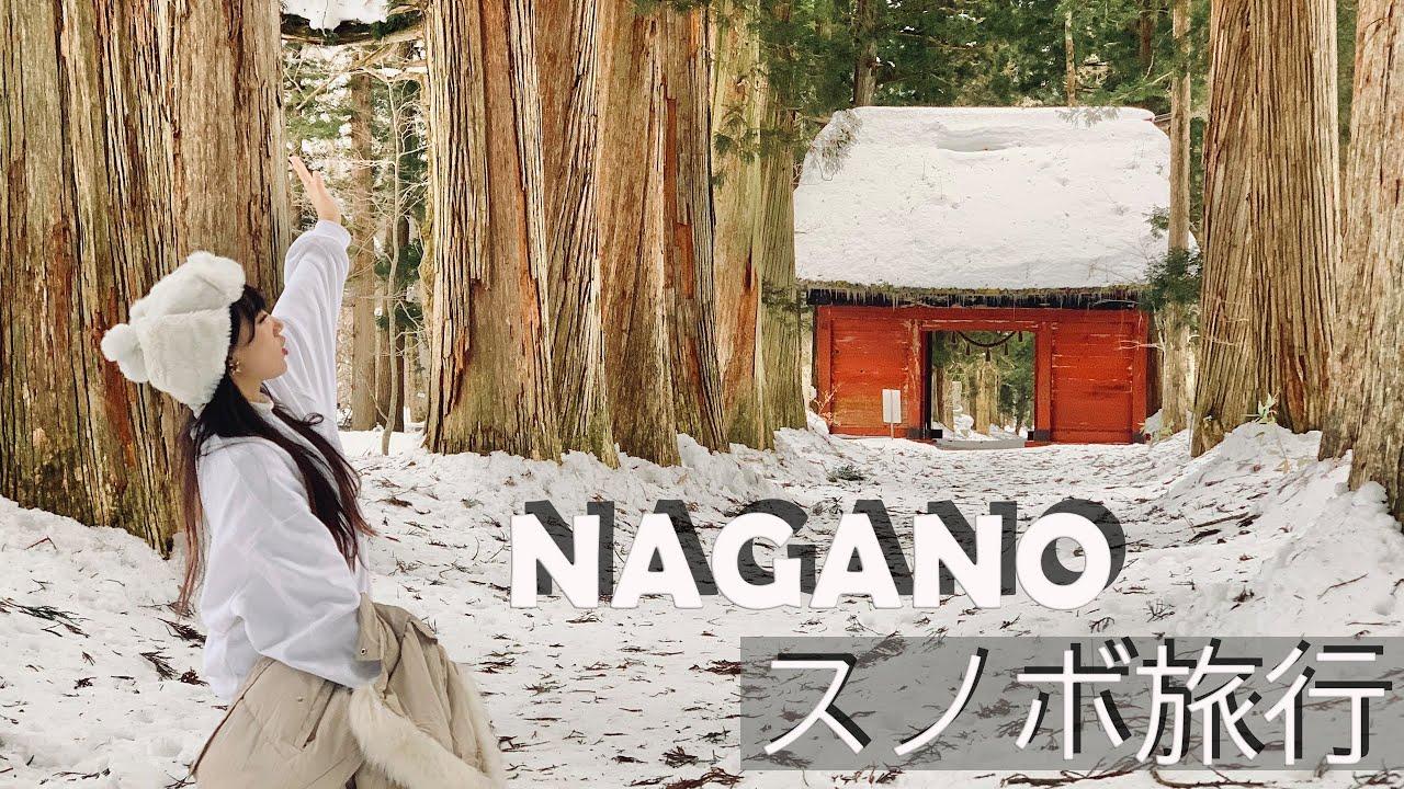 長野スノボ旅行、人生初スノーボードしてみた🏂夏に乗せる冬の動画