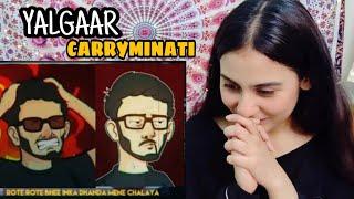 YALGAAR - CARRYMINATI X Wily Frenzy | YALGAAR Reaction | Illumi Girl