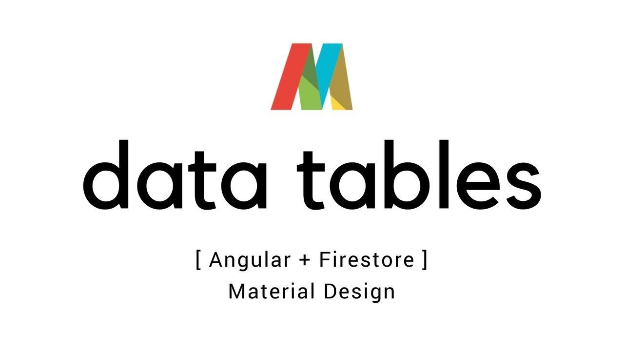 Angular 5 – Material Data tables with Firestore | T-Pub :)