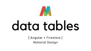 Angular 5 - Data tables with Firestore