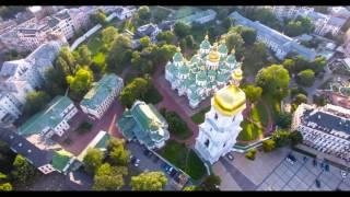 Киев, Софиевская площадь, Собор Святой Софии с высоты птичьего полета(, 2016-08-16T14:18:05.000Z)