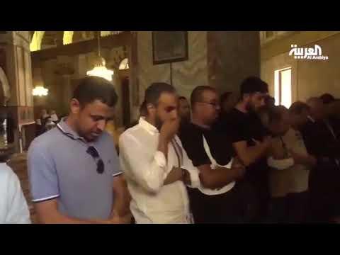 وفد من المنتخب السعودي يزور المسجد الأقصى وقبة الصخرة  - 14:56-2019 / 10 / 14