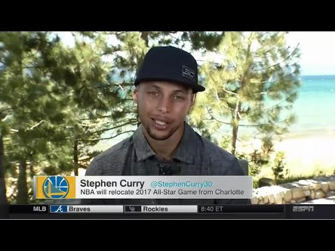 NBA Moving All-Star Game From Charlotte (Stephen Curry