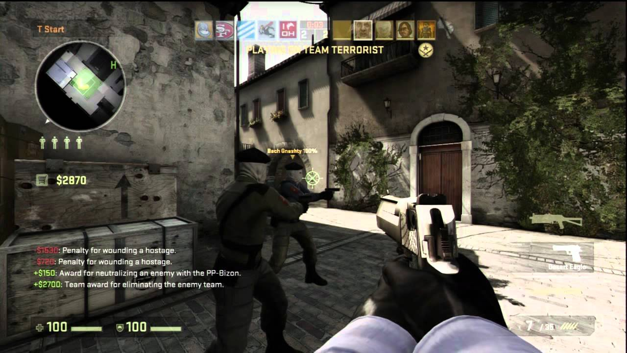 Counter Strike Global Offensive Gameplay Xbox 360