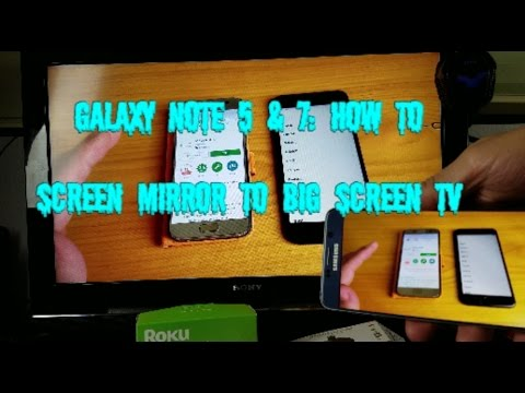 Galaxy Note 5 & 7: How to Screen Mirror to Non Smart TV (No Wifi Network Needed!!!)