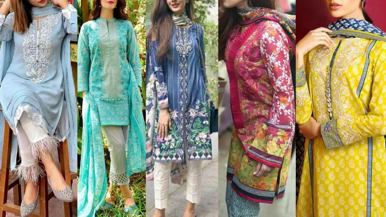 60 Cotton Lawn Summer Dress Designs 2020 Outclass Designer S Summer Outfits Youtube