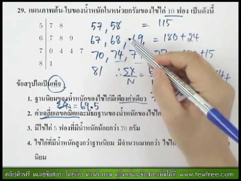 คลิป คณิตศาสตร์ O-NET '53 ข้อ 29/40 [ติวฟรี.คอม]
