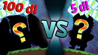 100 DL VS 5 DL SET CHALLENGE | Growtopia