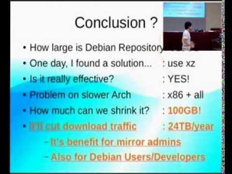 Lets shrink Debian package archive! (@DebConf12)