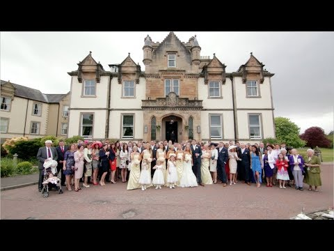 Cameron House Hotel wedding video - Danni & Matt