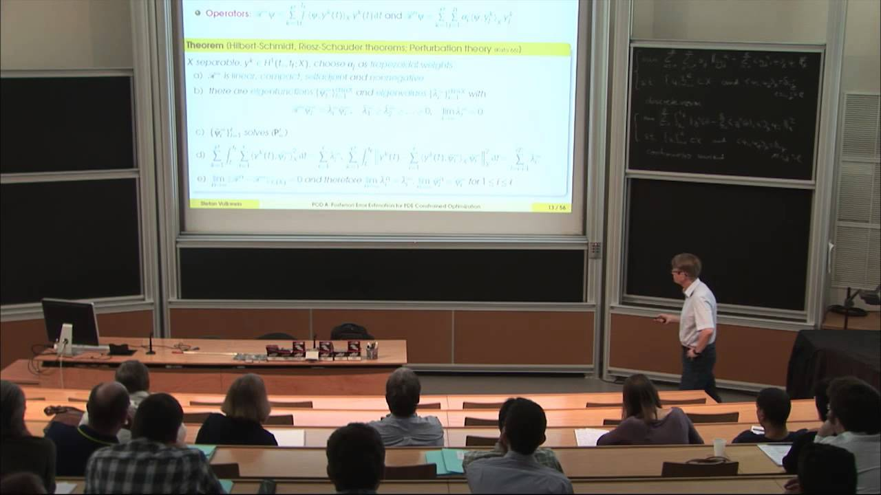 Stephan Volkwein  POD a posteriori error estimation for PDE     Stephan Volkwein  POD a posteriori error estimation for PDE constrained  optimization