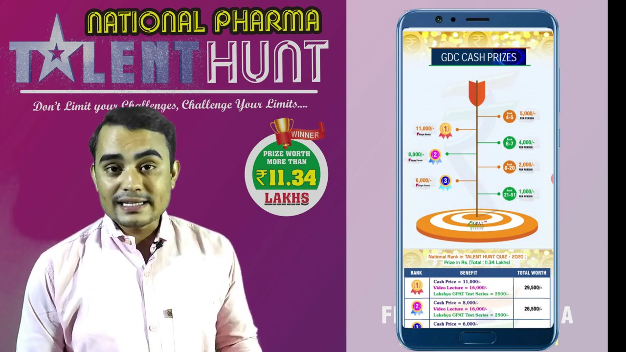 NATIONAL PHARMA TALENT HUNT | 15 AUGUST 2020, 2 PM  | HOW TO JOIN