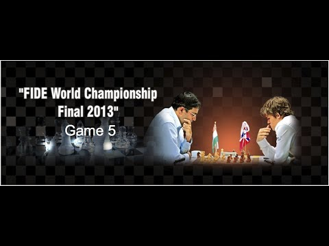 Game 5 - Viswanathan Anand vs Magnus Carlsen | FIDE World Ch