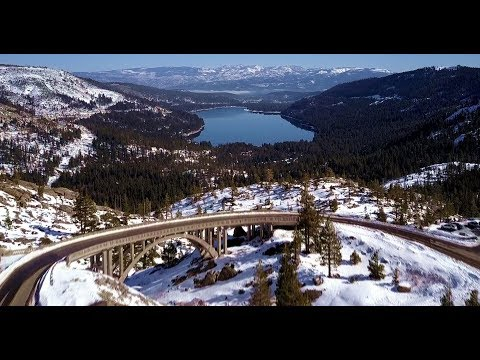Donner Summit Bridge - Donner Pass, Truckee, California - Sierra Nevada Mountains