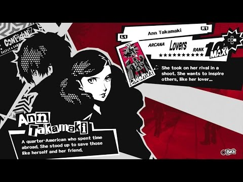 Persona 5 Ps4 Max Confidant Rank Guide For The Lovers Arcana Ann Takamaki Lovers Route
