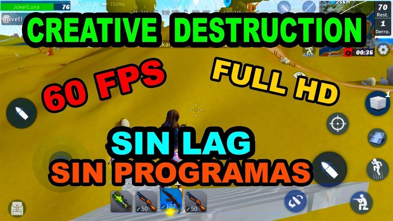 Como hacer que el creative destruction te valla a mas de 100fps youtube - Como hacer vallas ...