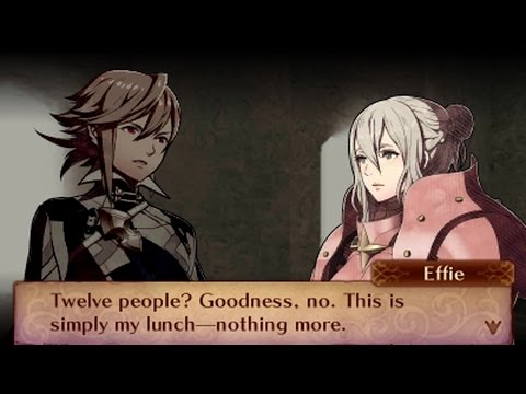 Fire Emblem Fates: Conquest - Male Avatar (My Unit) & Effie Support Conversations