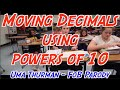 Moving Decimals using powers of 10 (Uma Thurman Parody)