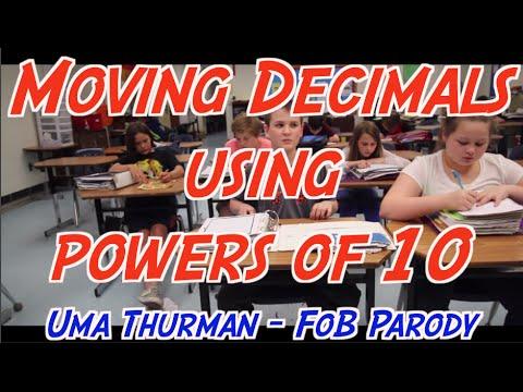 Moving Decimals using powers of 10 (Uma Thurman Parody)